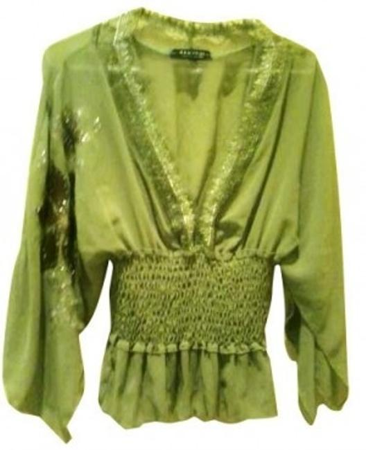 Preload https://item3.tradesy.com/images/rampage-light-green-embroidered-blouse-size-8-m-5797-0-0.jpg?width=400&height=650
