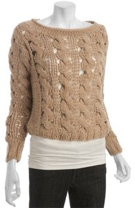 Anthropologie Open Knit Crochet Sweater
