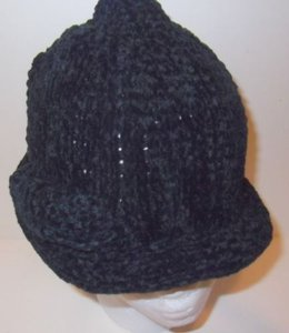 Chenille Roll Hat Cap Black By August Accessories Soft Bow Detail Winter