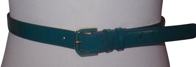 Item - Patent Leather Belt Teal Green