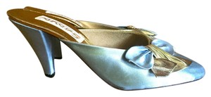 Other baby blue / gold Mules