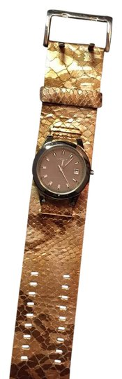 Preload https://item1.tradesy.com/images/dkny-gold-snake-print-leather-watch-5806045-0-1.jpg?width=440&height=440