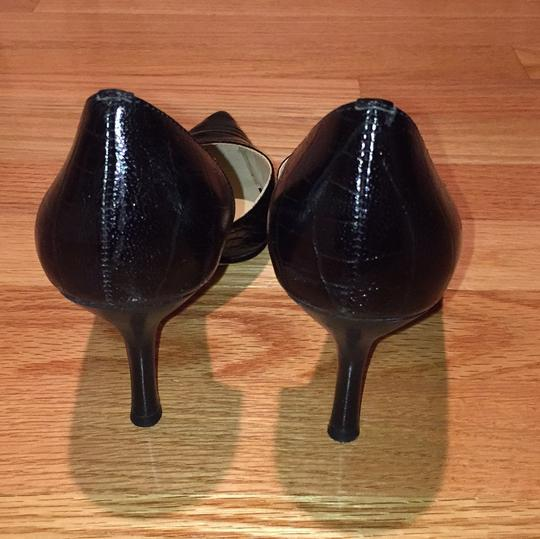 Anne Klein Black snakeskin Pumps