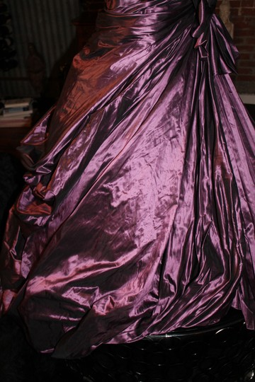 Pnina Tornai Purple Silk Taffeta Formal Wedding Dress Size 2 (XS)