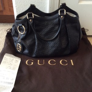 Gucci Sukey Leather Tote in Black