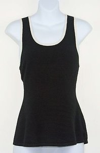 A Pea In The Pod A Pea In The Pod Black White Trim Textured Sleeveless Maternity Top B212