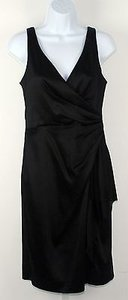 White House | Black Market Satin Ruched Tucked Sleeveless B240 Dress