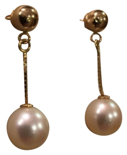 Blue Nile Blue Nile Freshwater Cultured Drop Pearl Earrings in 14k Yellow Gold