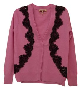 Juicy Couture Wool Cashmere Embellished Cardigan