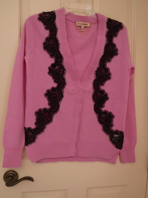 Juicy Couture Wool Cashmere Embellished Lace Cardigan Image 2