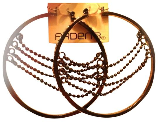 Arden B. Arden B Hoop Earrings with Chain Accent