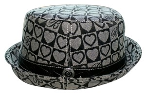 Brighton Brighton Hat Black Hearts Canvas, Leather