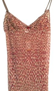 DKNY short dress Tan, brown, red printed Lingerie Night on Tradesy