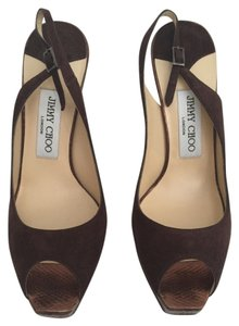 Jimmy Choo Brown Platforms
