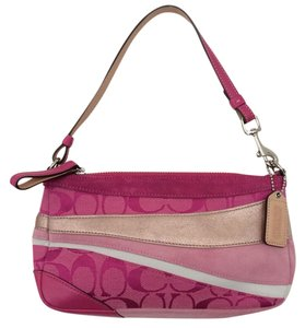 Coach Clutch Pink Wristlet in Pink/Gold