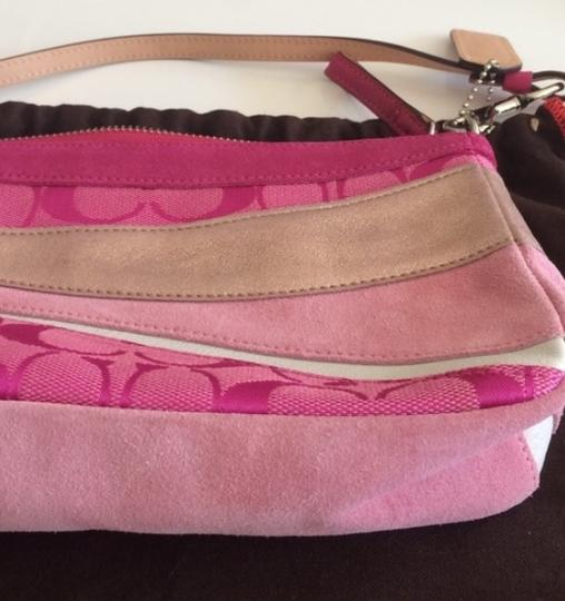 Coach Wristlet in Pink/Gold