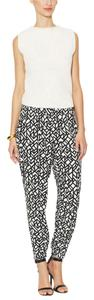 Alice & Trixie Baggy Pants Black/white Triangle Geo