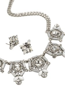 David's Bridal Geo Stone Mini Statement Necklace and Earring Set