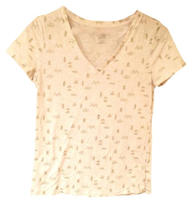 Mossimo Supply Co. T Shirt Cream with Gold