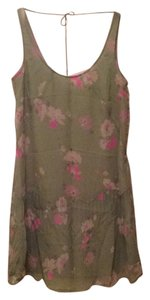 Charlotte Ronson short dress Sage green/floral on Tradesy