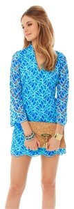 Lilly Pulitzer Palm Beach Tunic Party Embroidered Detailed Aqua Tiffany Trina Turk Contemporary Dvf Tory Burch Amanda Uprichard Joie Dress
