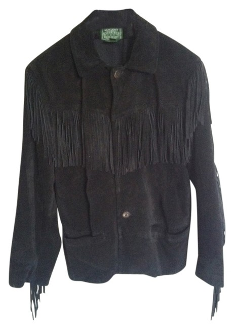 Ralph Lauren Suede Western Fringed Leather Jacket
