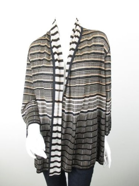 St. John Yellow Label Striped Open Front Cardigan Sweater Image 0