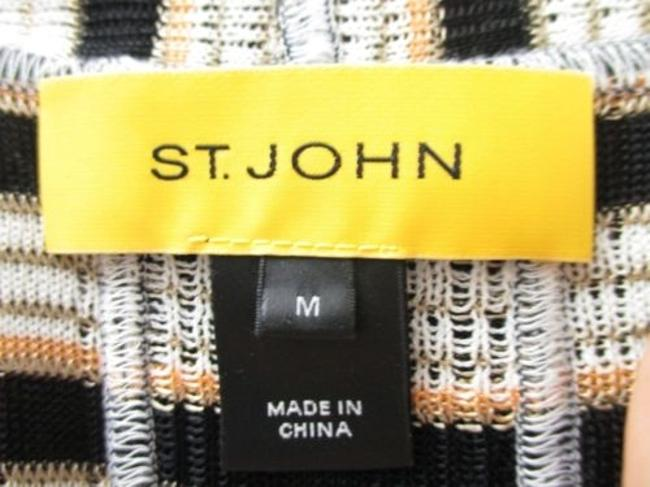 St. John Yellow Label Striped Open Front Cardigan Sweater Image 6