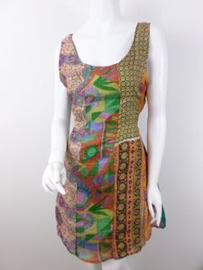 Sacred Threads short dress Multi-Color Patchwork Nothing Matches Art To Wear Silk Ml on Tradesy