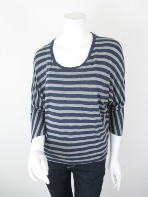 Preload https://item4.tradesy.com/images/vince-blue-gray-striped-dolman-sleeve-rayon-crop-shirt-top-5814688-0-0.jpg?width=400&height=650