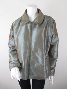 Chico's Iridescent Shiny Insulated Winter Fall Jacket Coat