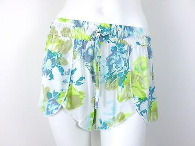 Jack by BB Dakota Urban Outfitters Floral Shorts White, Green, Blue Image 0