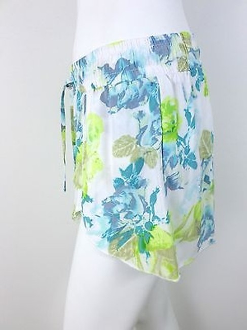 Jack by BB Dakota Urban Outfitters Floral Shorts White, Green, Blue Image 1