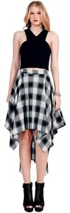 Mai Tai Hi Lo Plaid Flowy Skirt