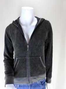 Juicy Couture Velour Signature Full Zip Sweater M Sweatshirt