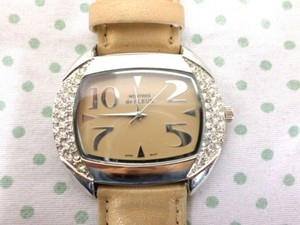 Montres De Fleur Gold Watch Bling Rhinestone Face As Is Not Working