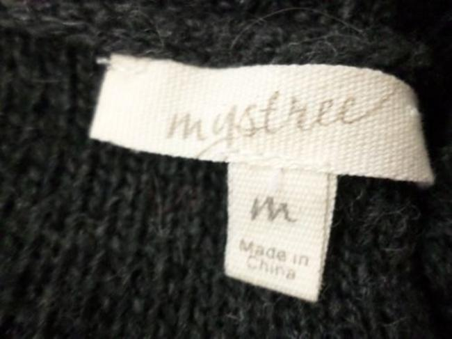 Mystree Buckle Ombre Wool Blend Long Length Tunic Sweater
