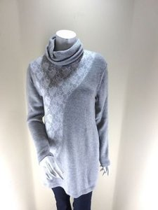 Soft Surroundings Lace Wool Blend Turtleneck Szs 1x 2x Sweater