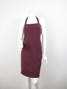 Athleta Athleta Maroon Sizzle Stretch Yoga Fitted Halter Dress