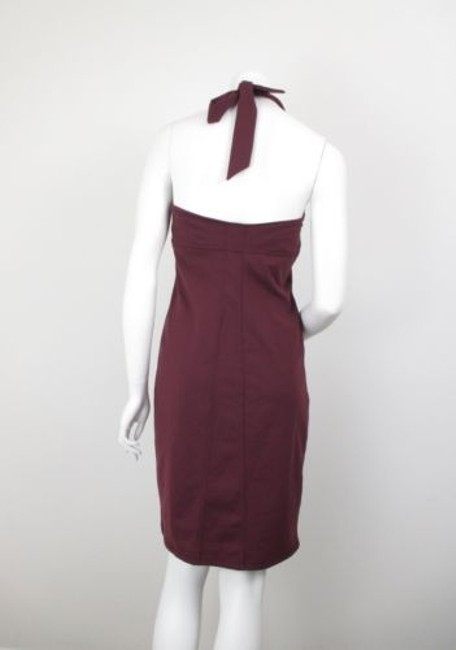 Athleta Athleta Maroon Sizzle Stretch Yoga Fitted Halter Dress Image 2
