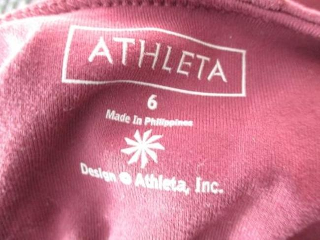 Athleta Athleta Maroon Sizzle Stretch Yoga Fitted Halter Dress Image 5
