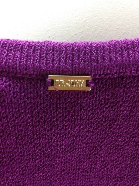 St. John Black Label Blend Cardigan Gold Buttons Petite P Sweater