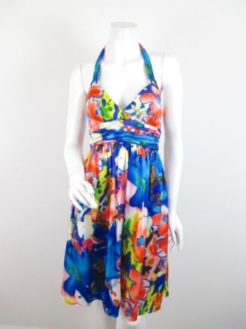Preload https://item1.tradesy.com/images/muse-floral-blue-pink-green-100-silk-halter-cocktail-party-dress-5816620-0-0.jpg?width=400&height=650