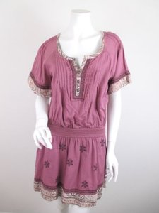 Free People short dress Dusty Pink People Meet Me In Marfa Paisley Floral Boho S on Tradesy