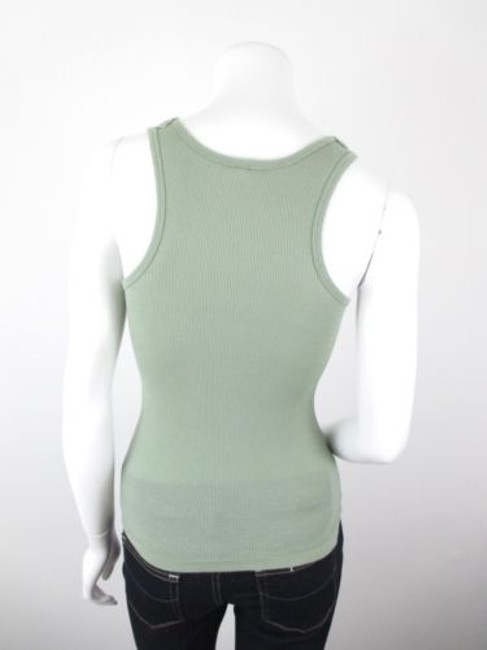 Sparkle & Fade Outfitters Crochet Lace Neckline Ribbed Top Green