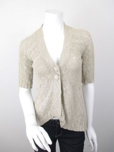 Daytrip The Buckle Oatmeal Ramie Cotton Hi Low Cardigan Sweater