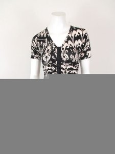 Plenty by Tracy Reese short dress Black, Cream Hannah Ikat Print Ruched on Tradesy