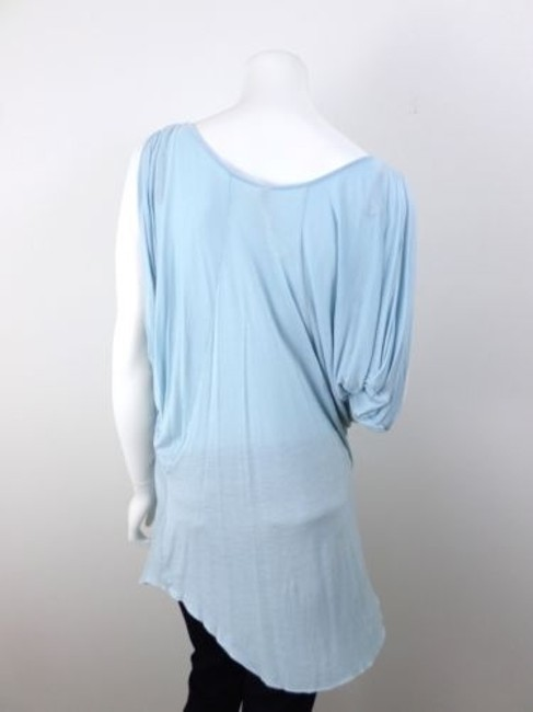 Free People Beach Light Ruched 100 Rayon Sleeveless One Top Blue