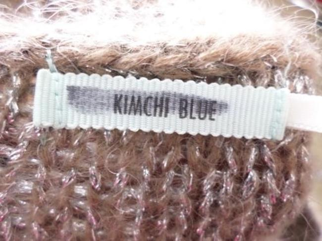 Kimchi Blue Metallic Cable Knit Mohair Blend Sweater