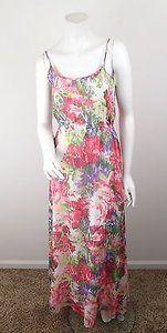 Multi-Color Maxi Dress by Jack by BB Dakota Urban Outfitters Pink Floral Chiffon Maxi 2 6